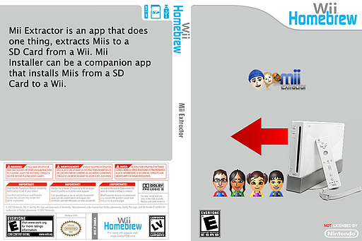 Mii Extractor Homebrew cover (DMEA)