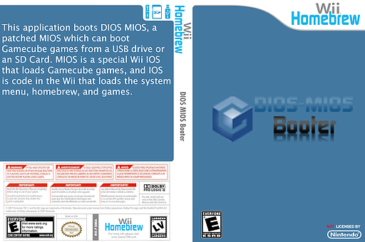 DIOS MIOS Booter Homebrew cover (DMIA)