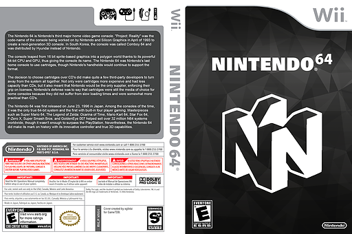 Not64 Homebrew cover (DN6A)