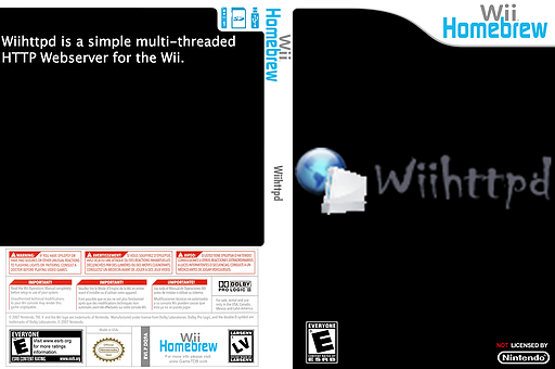 Wiihttpd Homebrew cover (DQ9A)