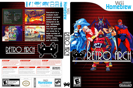 RetroArch-Wii Homebrew cover (DRAA)