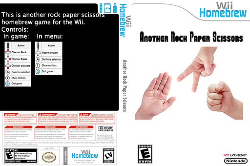 Another Rock Paper Scissors Homebrew cover (DS1A)