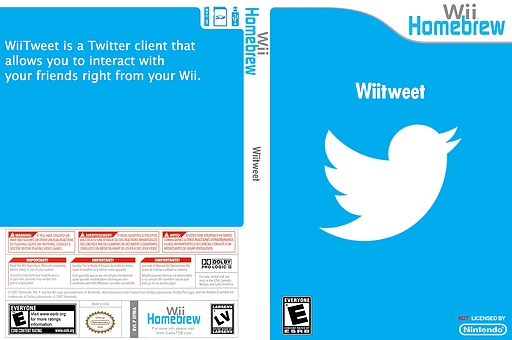 Wiitweet Homebrew cover (DTWA)