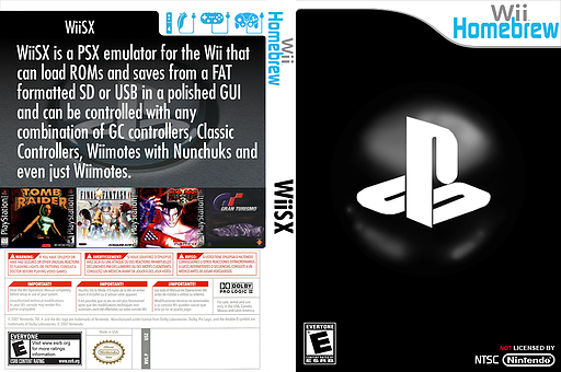 WiiSX Homebrew cover (DWSA)