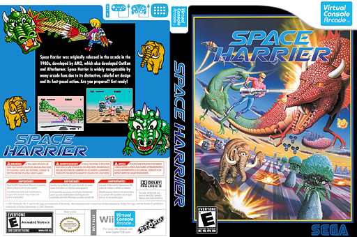 Space Harrier VC-Arcade cover (E62E)