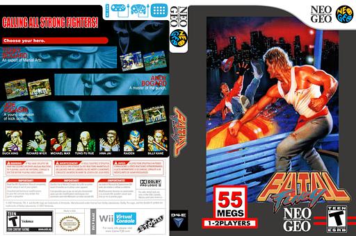 Fatal Fury VC-NEOGEO cover (EAAE)