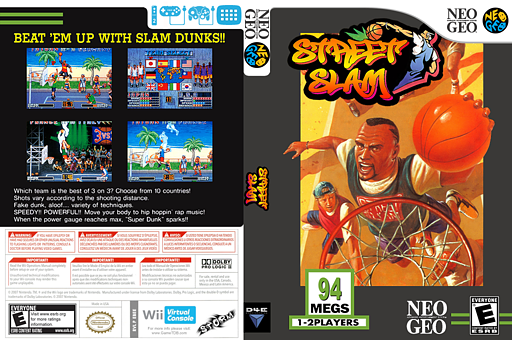 Street Slam VC-NEOGEO cover (EBEE)