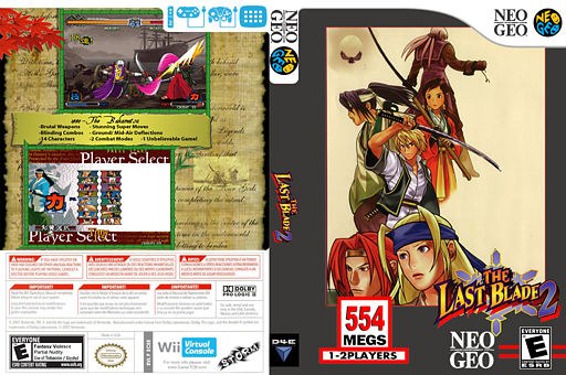 The Last Blade 2 VC-NEOGEO cover (ECEE)