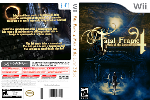 Fatal Frame 4: Mask of the Lunar Eclipse CUSTOM cover (FF4ENG)