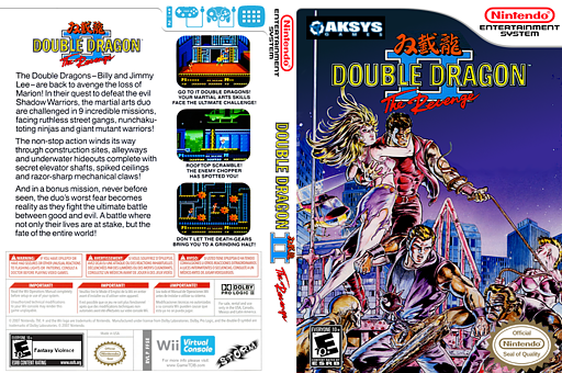 Double Dragon II: The Revenge VC-NES cover (FF5E)