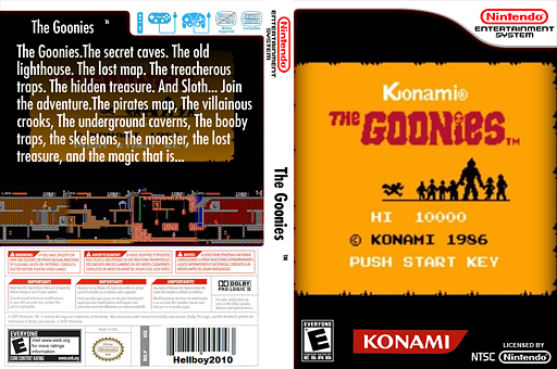 The Goonies VC-NES cover (FMCA)