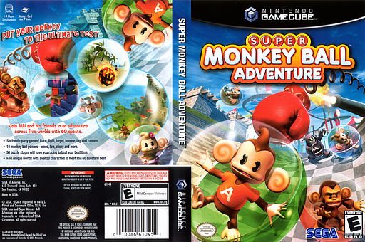 Super Monkey Ball Adventure GameCube cover (G3LE8P)