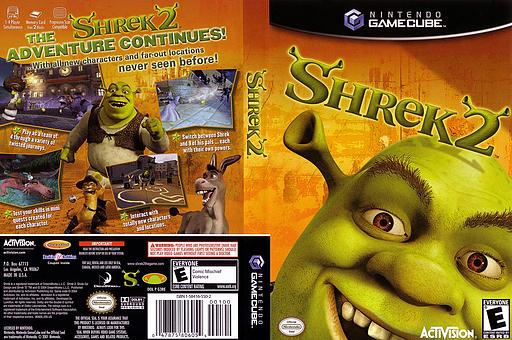 Shrek 2 GameCube cover (G3RE52)