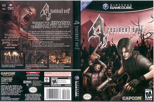 Resident Evil 4 GameCube cover (G4BE08)