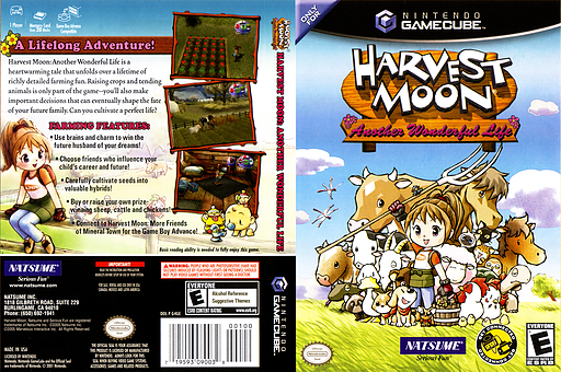 Harvest Moon: Another Wonderful Life GameCube cover (G4GEE9)