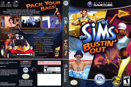 The Sims Bustin' Out GameCube cover (G4ME69)