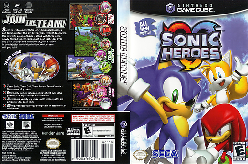 Sonic Heroes GameCube cover (G9SE8P)