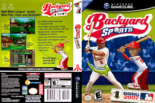 backyard sports baseball 2007 gamecube cover ga7e70