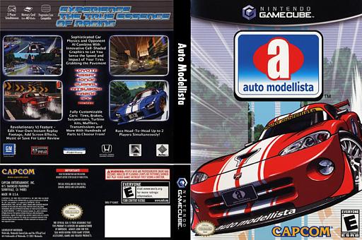 Auto Modellista GameCube cover (GAUE08)
