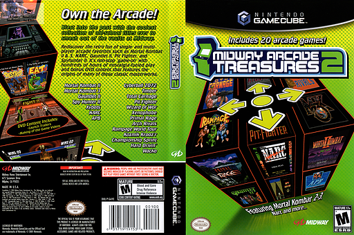 Midway Arcade Treasures 2 GameCube cover (GAYE5D)