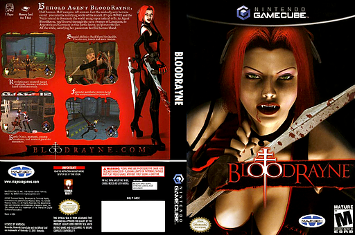 BloodRayne GameCube cover (GBDE5G)