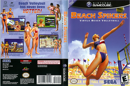 Beach Spikers: Virtua Beach Volleyball GameCube cover (GBSE8P)