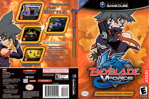 Beyblade VForce - Super Tournament Battle GameCube cover (GBTE70)