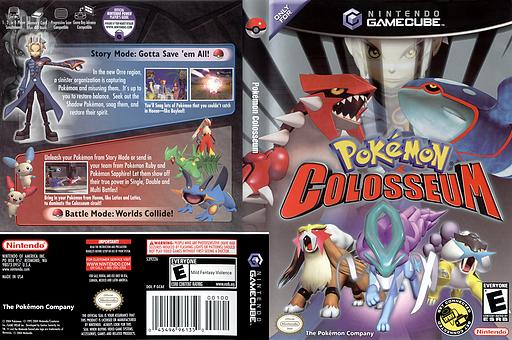 Pokémon Colosseum GameCube cover (GC6E01)