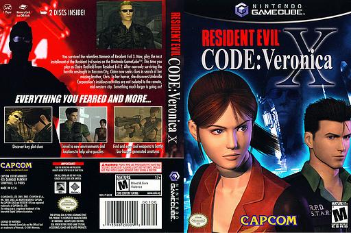 Resident Evil Code: Veronica X GameCube cover (GCDE08)