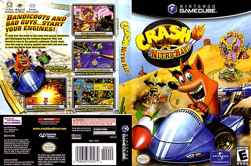 Crash Nitro Kart GameCube cover (GCNE7D)