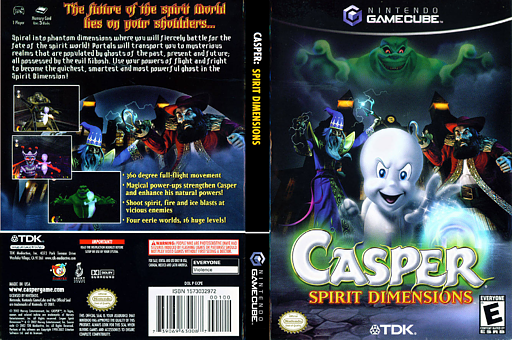 Casper: Spirit Dimensions GameCube cover (GCPE6S)