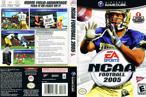 NCAA Football 2005 GameCube cover (GCUE69)