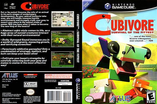 Cubivore: Survival of the Fittest GameCube cover (GCVEEB)