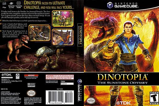 Dinotopia - The Sunstone Odyssey GameCube cover (GD4E6S)