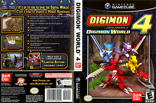 Digimon World 4 GameCube cover (GDJEB2)