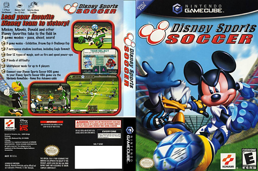 Disney Sports Soccer GameCube cover (GDKEA4)