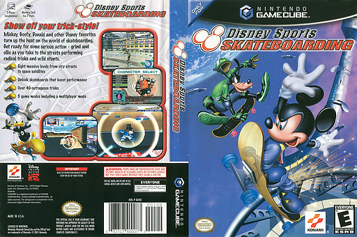 Disney Sports Skateboarding GameCube cover (GDXEA4)