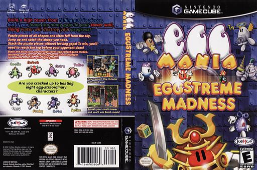 Egg Mania: Eggstreme Madness GameCube cover (GEME7F)