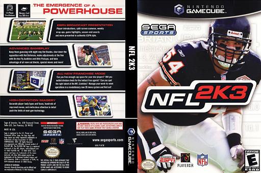 NFL 2K3 GameCube cover (GF3E8P)
