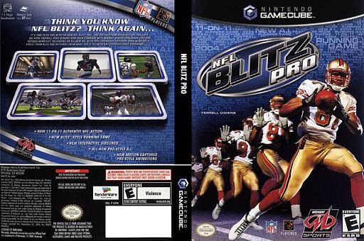 NFL Blitz Pro GameCube cover (GFVE5D)