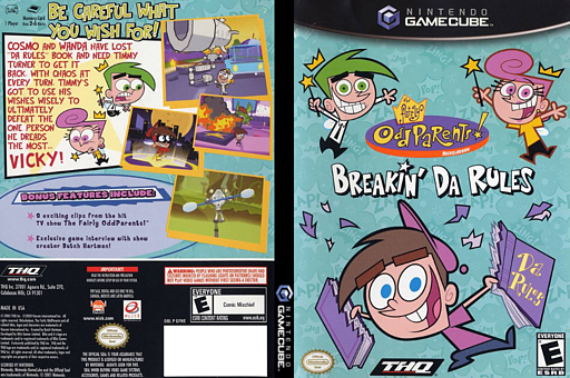 The Fairly OddParents: Breakin' Da Rules GameCube cover (GFWE78)
