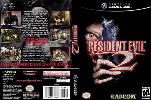 Resident Evil 2 GameCube cover (GHAE08)