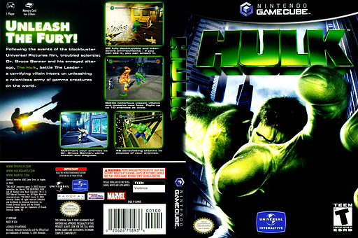 Hulk GameCube cover (GHKE7D)