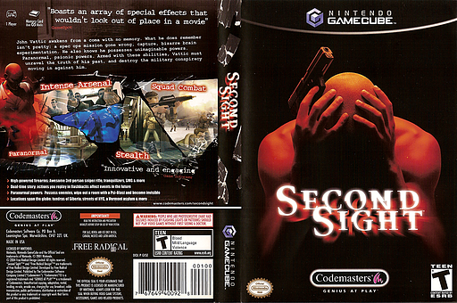 Second Sight GameCube cover (GISE36)