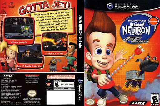 Jimmy Neutron Jet Fusion GameCube cover (GJFE78)