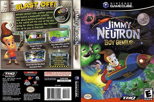 Jimmy Neutron Boy Genius GameCube cover (GJNE78)