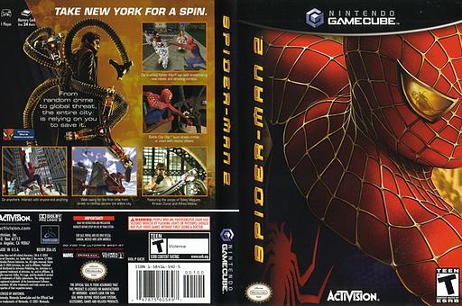Spider-Man 2 GameCube cover (GK2E52)