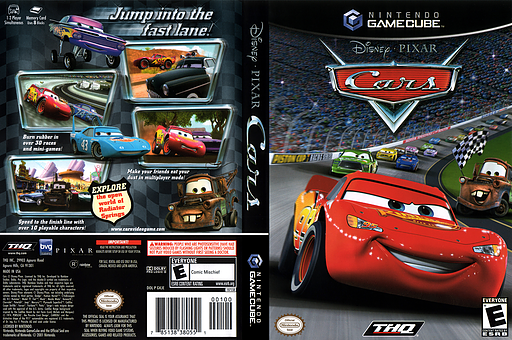 Cars GameCube cover (GKJE78)