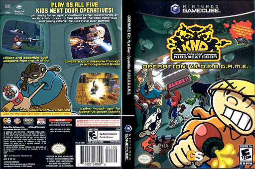 Codename Kids Next Door - Operation V.I.D.E.O.G.A.M.E GameCube cover (GKZE9G)