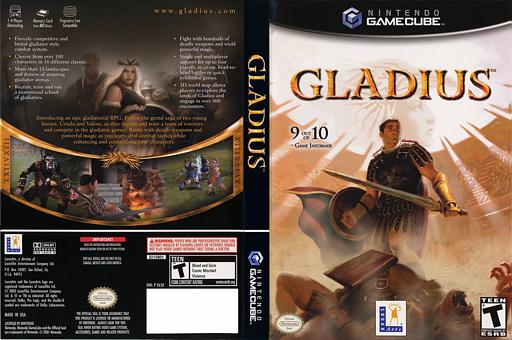Gladius GameCube cover (GLSE64)